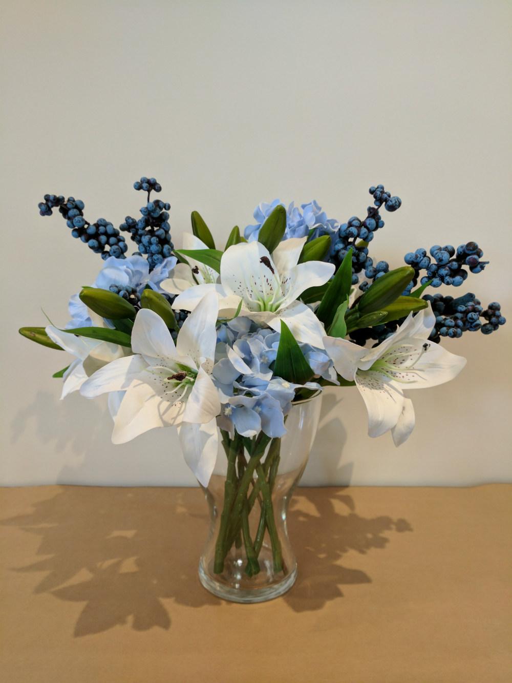 Calming Influence Stunning Bouquet Beautiful Silk Flower Gifts Online